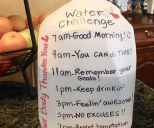 water, healthy, and challenge image