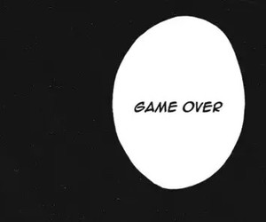 manga, quotes, and game over image