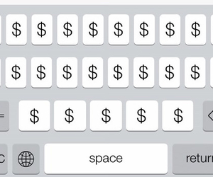 money, keyboard, and dollar image