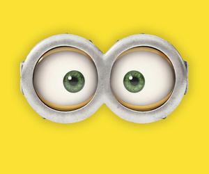 banana, eyes, and minion image