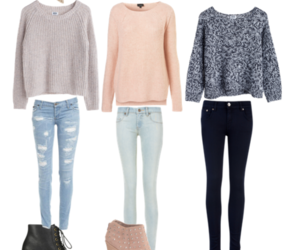 outfit, fall, and sweater image