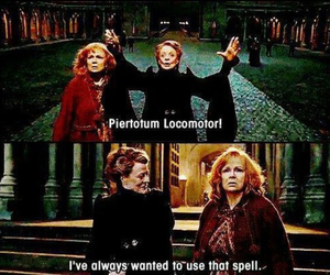 harry potter, hogwarts, and spell image