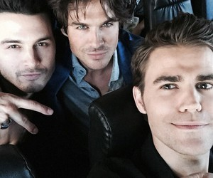 paul wesley, denzo, and tvd image