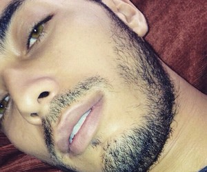 beau, green eyes, and algerien image