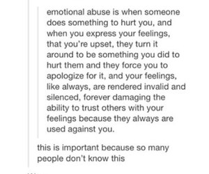 abuse, emotions, and quote image