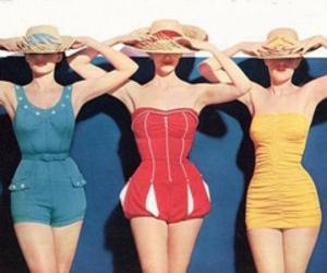 vintage, blue, and hat image