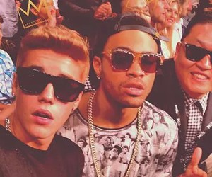 justin bieber, psy, and boy image