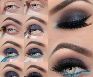 makeup, diy, and eyes image