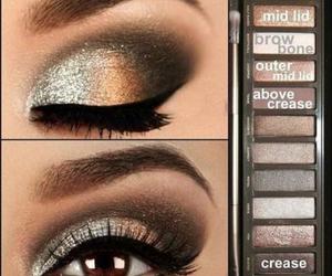 eye makeup, makeup, and pretty image