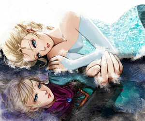 frozen, elsa, and snow image