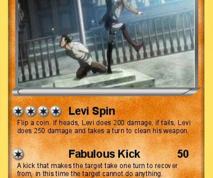 funny, levi, and pokemon card image