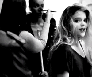 kiss, sky ferreira, and black and white image