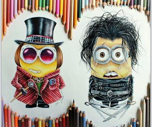 draws, minions, and cute image
