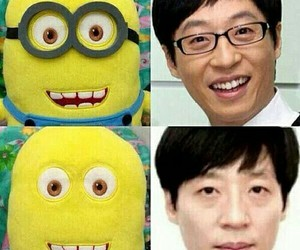 funny, minions, and running man image