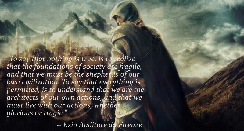 Ezio Auditore Da Firenze I Bow Down To Thy Greatness