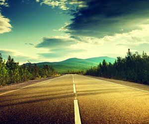 road and sky image
