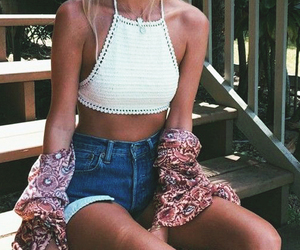 summer, outfit, and shorts image