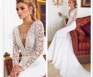 beautiful, wedding dress, and elegant wedding dress image