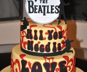 the beatles, cake, and beatles image