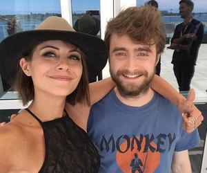 daniel radcliffe, willa holland, and arrow image