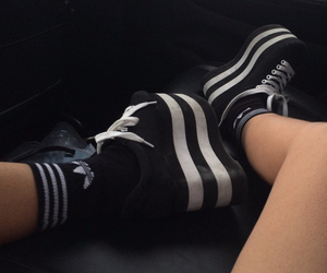 grunge, 90s, and adidas image