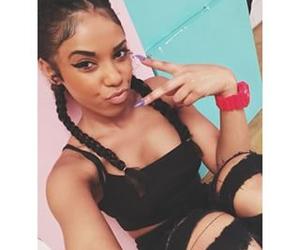 black, girl, and selfie image