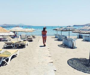 beach, bikini, and happy image