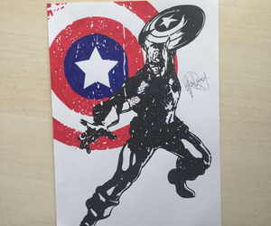 art, captain america, and comics image