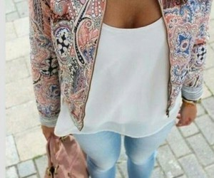 brunette, colorful, and shopping image