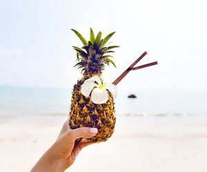 summer, beach, and pineapple image