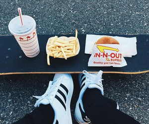 adidas, food, and fries image