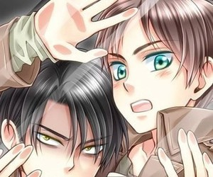 levi, aot, and otp image