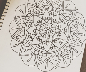 art, doodles, and mandala image