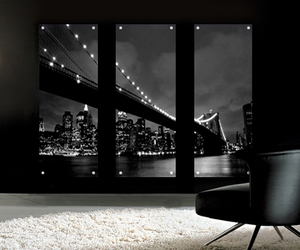 black and white art, perspex art, and new york prints image