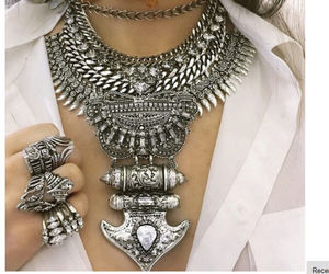 necklace, silver, and accessories image