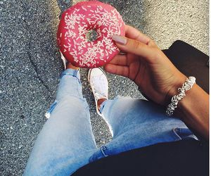 donut, food, and summer image