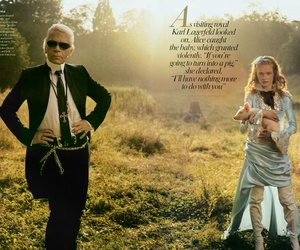 alice, karl lagerfeld, and vogue image