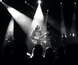hozier, black and white, and concert image
