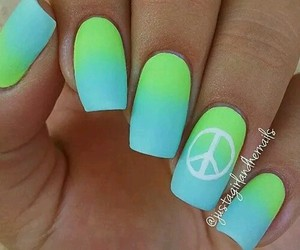 blue, girl, and manicure image