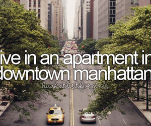 bucket list, apartment, and girl image
