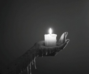 candle, dark, and gif image