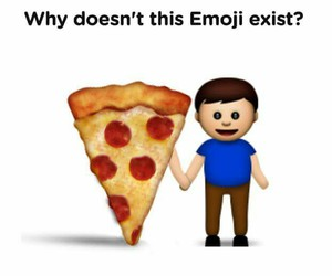 pizza, emoji, and love image
