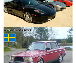 cars, sweden, and usa image