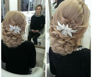 cool, hairstyle, and wedding image