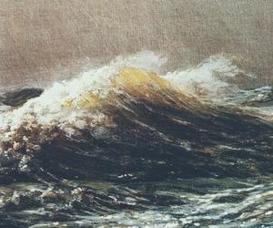 art, black, and ocean image