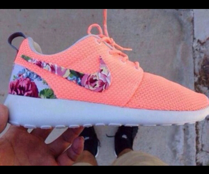 nike, shoes, and floral image
