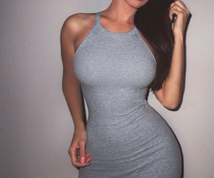 curvy, gray, and hourglass image