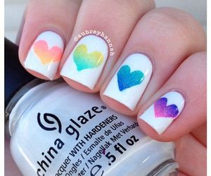 beauty, nails, and colourful image