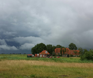 beautiful, clouds, and farm image