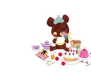 bear, dessert, and かわいい image